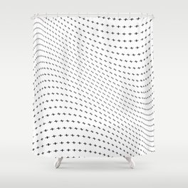 Plus Blowing Shower Curtain