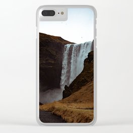 Waterfall in Iceland Clear iPhone Case