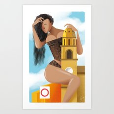 Illustre Conero - Sirolo bell tower Art Print