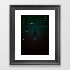 Deatheaters: Facebook Shapes & Statuses Framed Art Print
