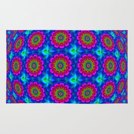 Flower  rainbow-colored Rug