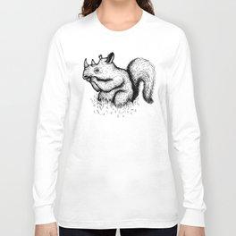 Squirrel Rhinocerous Long Sleeve T-shirt