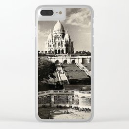 Vintage Sacré-Coeur de Montmartre in Paris Photo Clear iPhone Case
