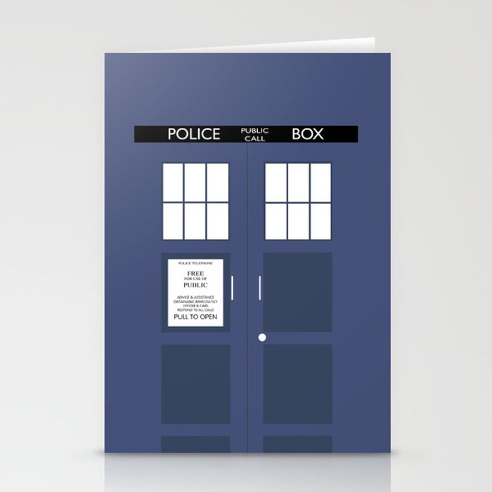 Smaller On The Outside Tardis Stationery Cards
