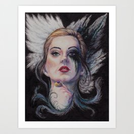A portrait of claire Art Print