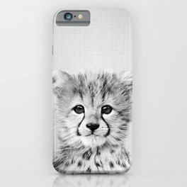 Baby Cheetah - Black & White iPhone Case
