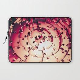 Metal Puzzle RETRO RED / 3D render of metallic circular puzzle pieces Laptop Sleeve