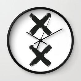 Black Cross Wall Clock
