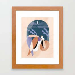 Neither wind nor rain could quench your light Framed Art Print