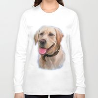 labrador Long Sleeve T-shirts featuring Labrador by OLHADARCHUK