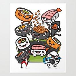 Sushi Rock Art Print