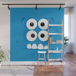 Psychos - Crazy Monsters (Blue) Wall Mural