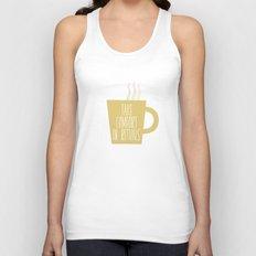 Take Comfort in Rituals. Coffee. Unisex Tank Top