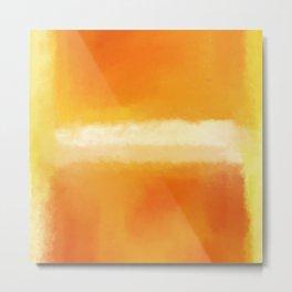 Mark Rothko Interpretation Orange On Orange Metal Print