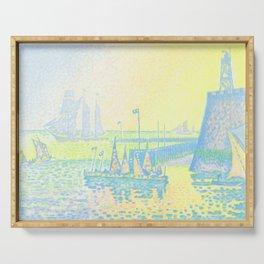 "Paul Signac ""Evening (The Jetty of Vlissingen) (Abend-La jetée de Flessingue)"" from the journal Pan Serving Tray"