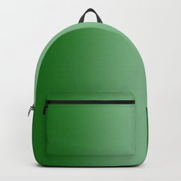 Green to Pastel Green Vertical Bilinear Gradient Backpack