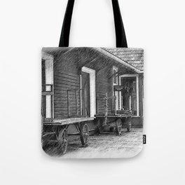 Train Station Platform Tote Bag