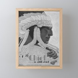retro old the chief is still chief poster Framed Mini Art Print