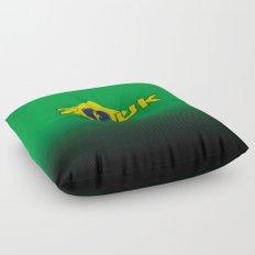 colors of brazil - lets dance brazilian zouk Floor Pillow