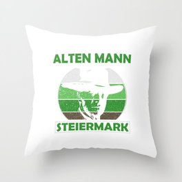 Unterschätze Niemals Einen Alten Mann Steiermark Throw Pillow