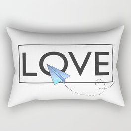 Love airplane blue Rectangular Pillow