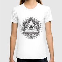 all seeing eye T-shirts featuring All Seeing Eye by E1 illustration
