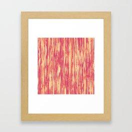 Ikat Streaks in Coral Framed Art Print