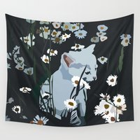 daisy Wall Tapestries featuring Daisy by Anna McKay