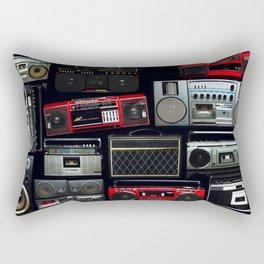 Full of radio boombox of the 80s Rectangular Pillow