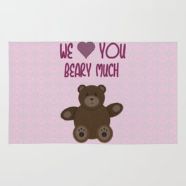 We Beary Love Rug