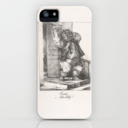 Exit, or Lord the Gob (Sortie, ou Milord-la Gob),1820–22 iPhone Case