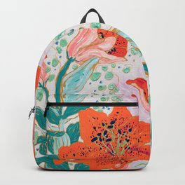 Orange Lily Backpack