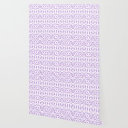 Decorative Plumes - White on Lavender Pink Wallpaper