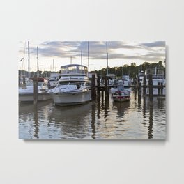 Chesapeake Docks Metal Print