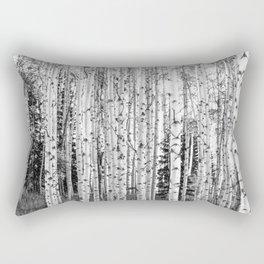 Forest in Black & White Rectangular Pillow