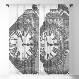 Vintage Time Sheer Curtain