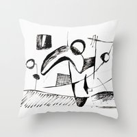 sketch Throw Pillows featuring Sketch by Alexander Babayan