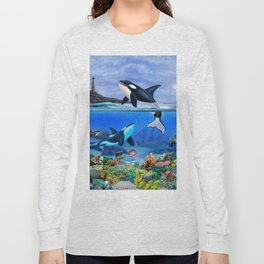 THE ORCA FAMILY Long Sleeve T-shirt