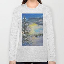 Michigan Pines at Sunset Long Sleeve T-shirt