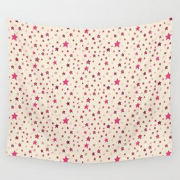 Pink Stars on Cream {Paper Moon Collection} Wall Tapestry