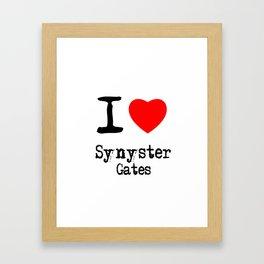 I Love Synyster Gates Framed Art Print
