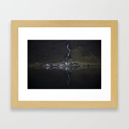 River that vanishes (Fjord) Framed Art Print