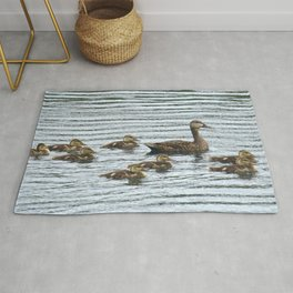 Mother Mallard And Her Ducklings Rug