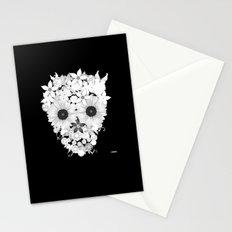 Skull Flowers white Stationery Cards