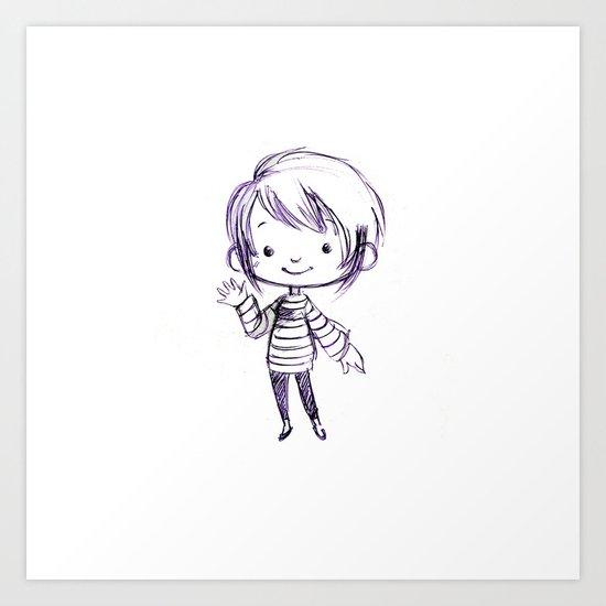 Chibi Momo Art Print