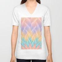 hocus pocus V-neck T-shirts featuring Focus lotus hocus pocus, colored by J. J. Jailbird