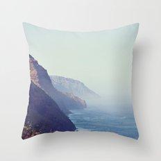 Hawaii Mountains Along the Ocean Throw Pillow