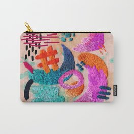 abstract embroidery Carry-All Pouch