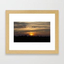 Communication sunset Framed Art Print