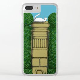 Alabaster the Cat on the Wall 3 Clear iPhone Case